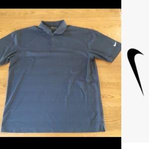 size Xlarge navy blue Nike Polo golf shirt